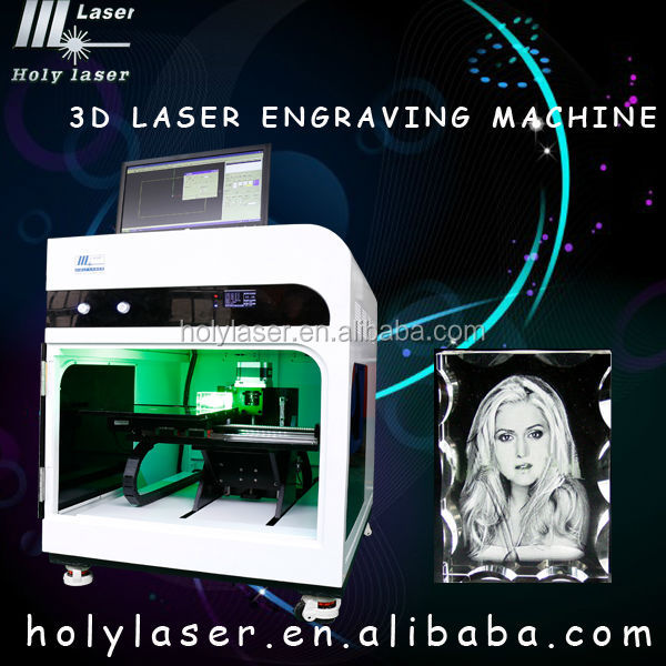 2017 the latest economical and practical laser engraver 3d inside crystal laser engraving machine