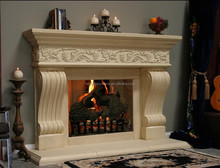 Nature stone granite & marble fireplace mantel