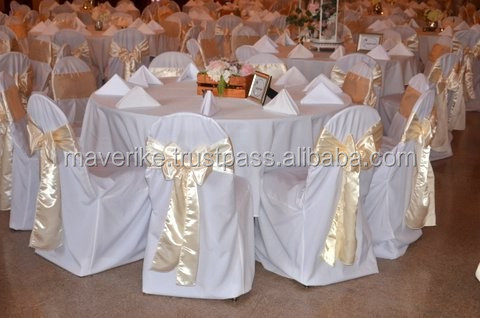 Wholesale Satin Chair Sash / Satin Chair Cover Sashes For Wedding and Banquet