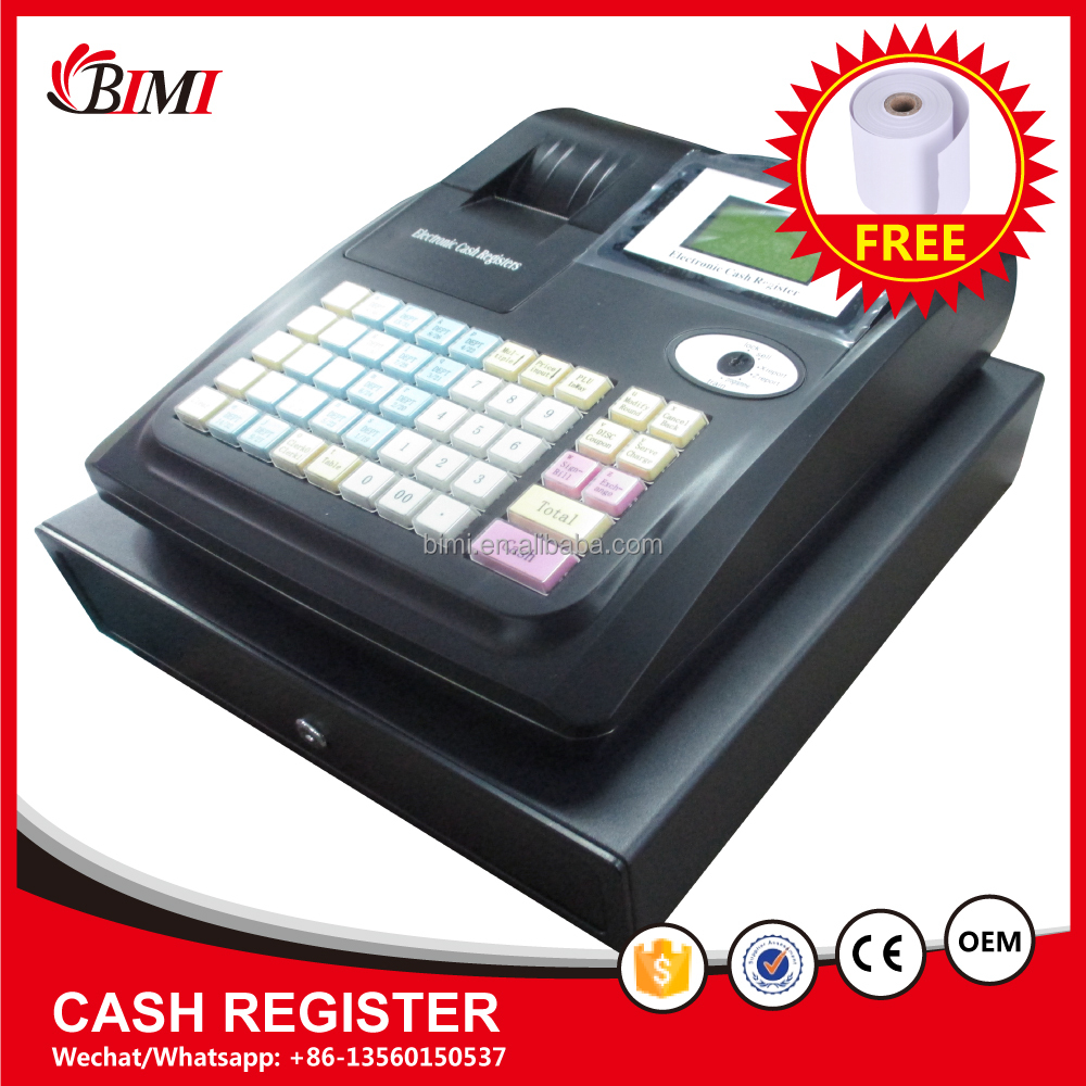 cheap electronic cash register machine ,58mm thermal printer ECR cash register machine