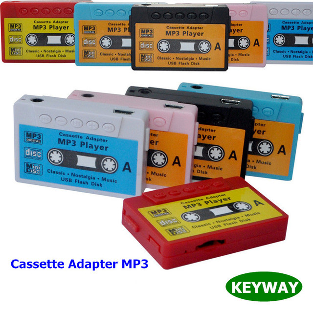 Classical Mini Cassette Adapter MP3 Player Tape MP3 Player With TF Card Slot For GYM Sport Running Cycling
