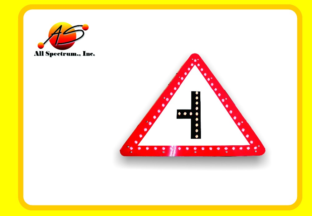 wholesale customize reflective road safety solar LED warning traffic signs board