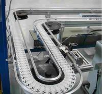 Flexible modular conveyor systems saving space flat top plain chain systems