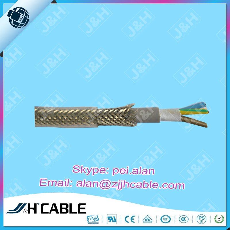 SAA Approved Transparent Braiding Shielded Cable