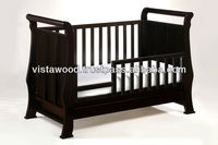 toddler bed with bed guard , 4 in 1 convertible cot , wooden crib