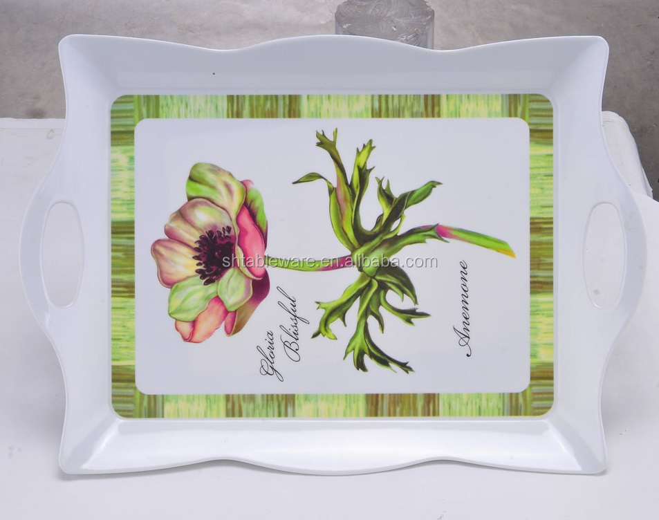 wholesale customizable design melamine tray
