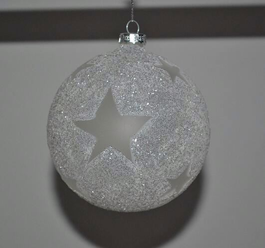 Factory Direct Sale Ceramic Christmas Ball Ornament Caps
