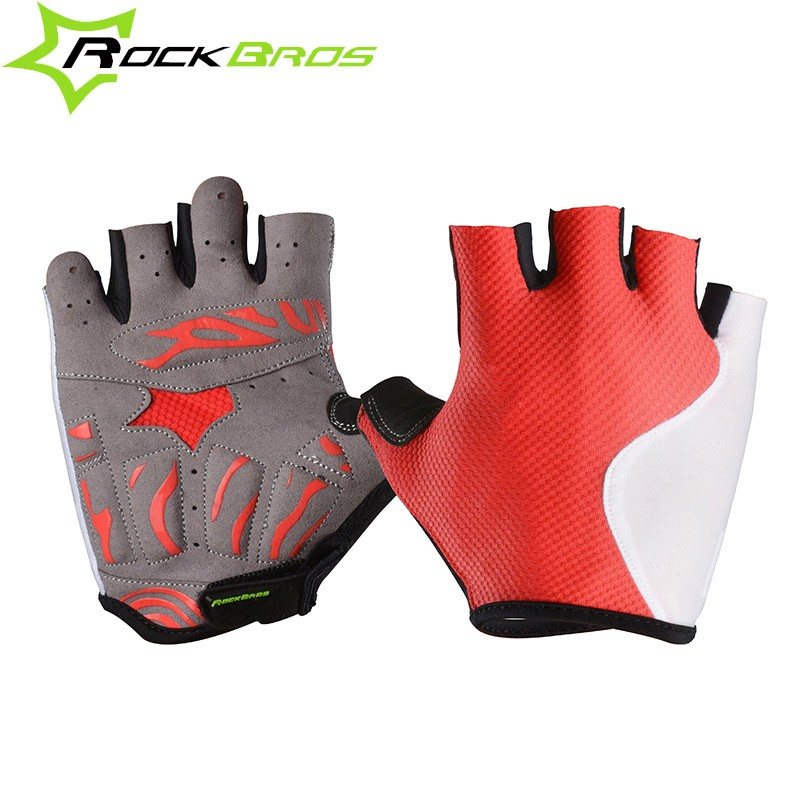 ROCKBROS Cycling Bike Bicycle Gloves Sports Wear Lycra Men&Women's Half Finger Gloves