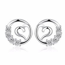 OUXI latest trends unique stud beautiful earrings designs for women C20140-901000