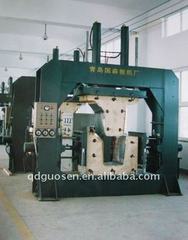 high frequency hyrdaulic press for bending wood plate from three direction