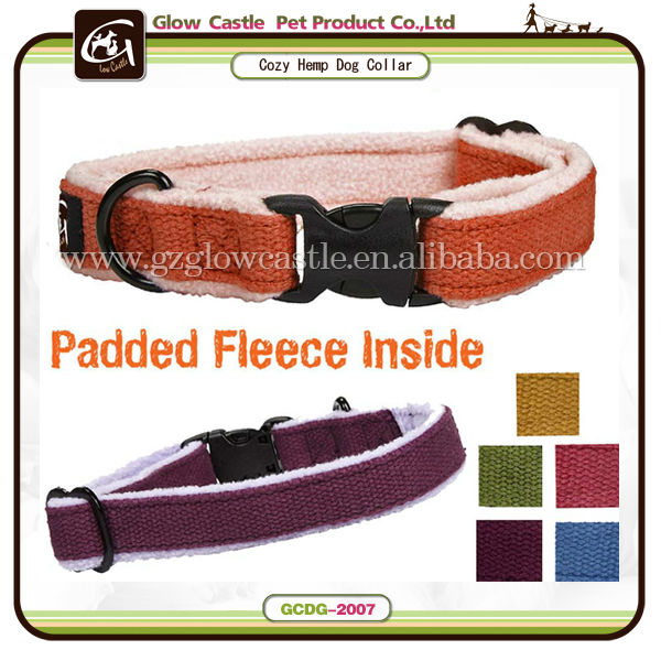 Glow Castle Dog Cozy Hemp Adjustable Dog Collar