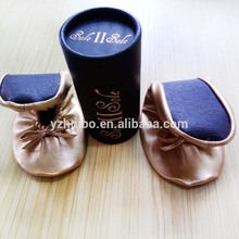 Roll up foldable Dance ballet Shoes in box