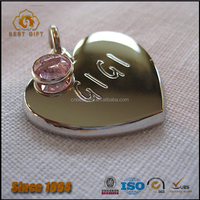 Hot sell cute heart shape personalized dog tags for pets