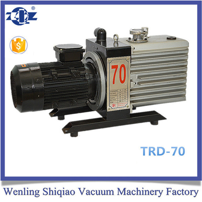 380V 2X Rotary Vane Vacuum Pump/ belt driven electrical slice OIL RING VACUUM SYSTEMS