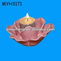 pink lotus flower shaped candle holder candle stand