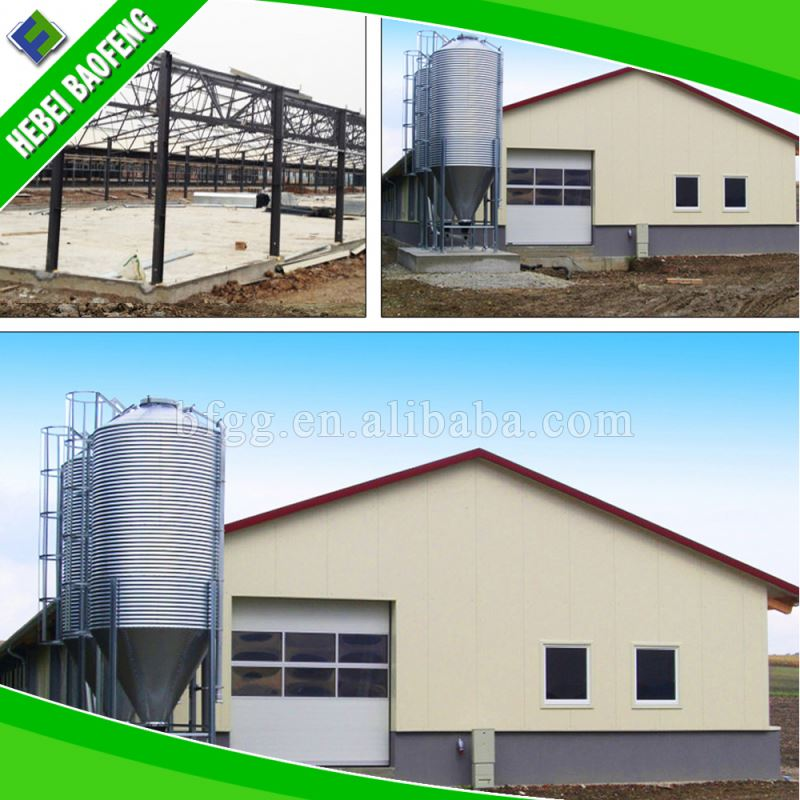 Flat roof steel two story building how to build a warehouse poultry