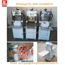 Full automatic mini frozen chicken mutton pork meat rolls maker/used 250es-10 meat slicer slicing cutting tool machine