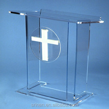 China Manufacture Clear Plastic Church Rostrum