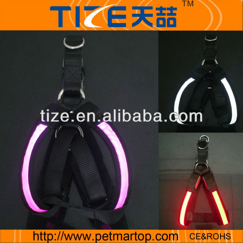 bright light led dog harness for sale TZ-PET1490 dog harness vest
