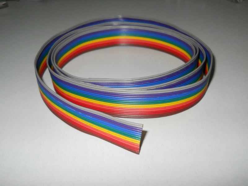 Flexible Flat Cable /Rainbow Cable/0.12 Flexible Flat Cable 40 rows,7 core each wire (electrical wire flat cable)