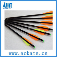 fiberglass crossbow bolts and arrow 34cm in length with swap and insert crossbow arrow broadheads