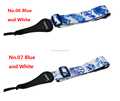 China wholesale various styles Blue&White guitar strap/ guitar strings
