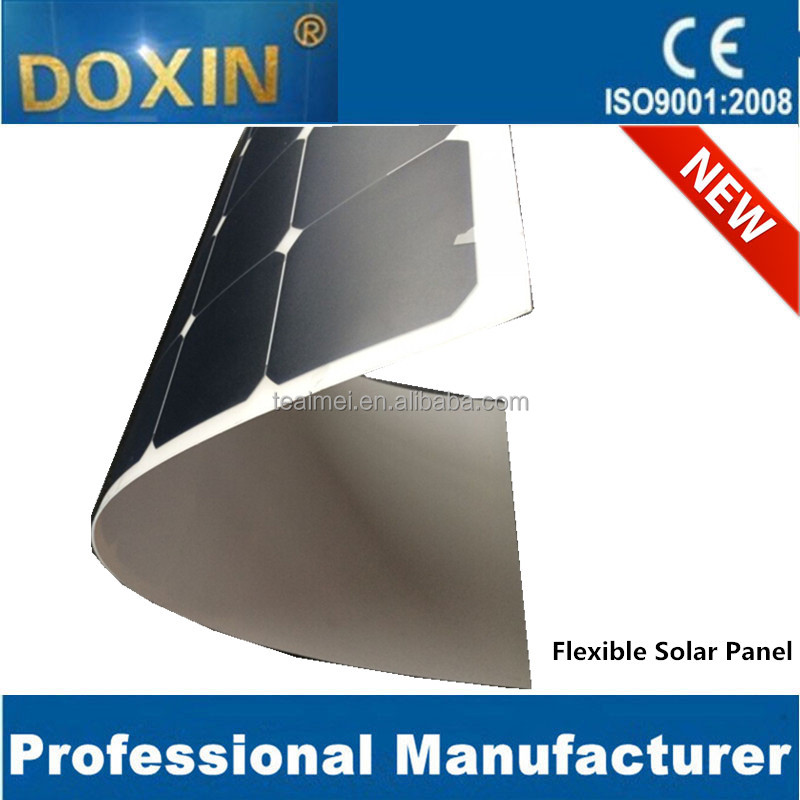 A+ class sunpower 100W semi flexible solar panel