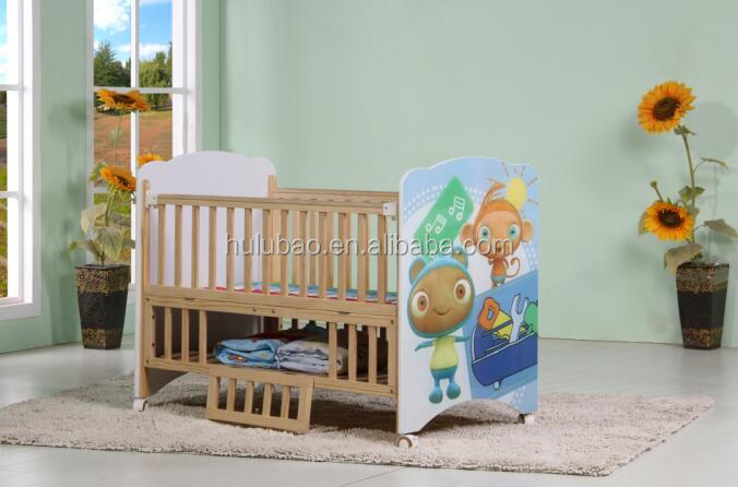 Laser Catoon Painting Baby Cribs Living home furniture 2015