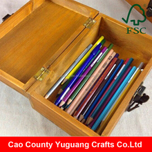 yuguang crafts antique wooden pencil case
