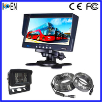 Koen 7 inch Special Car Rearview Mirror Car Monitor with Dual Input with Sunshade