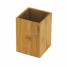 Natural Bamboo Wooden Square Bathroom Toothbrush Holder Perfect For Bathroom Accessories Toothbursh Box