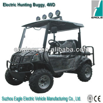 Electric hunting buggy, 4 wheel drive, CE approved