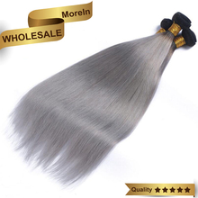 Brazilian virgin bundles straight wave wholesale cheap grey human hair weaving
