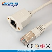 gray rj45 extension network cable
