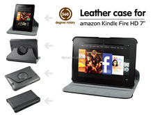 "Top quality for kindle fire HD 7"" 360 rotating pu leather case"