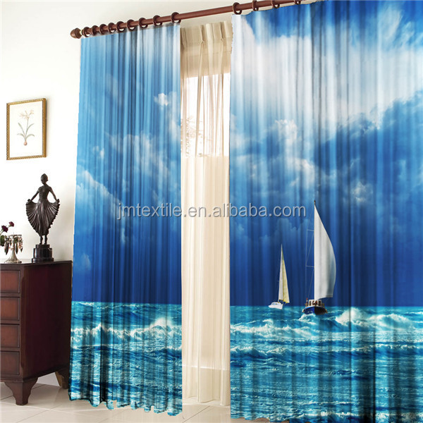 3DP CUR016 3d printed fashion curtain fabric