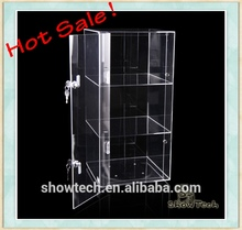 Lockable Steady Crystal clear 5mm thickness Acrylic display Cabinet