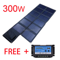 300w foldable solar charger bag solar home system for car battery outdoor