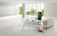 hot sale modern office executive desk with steel modesty panel