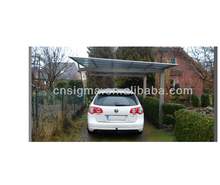 Car parking aluminium carports canopy with polycarbonate sheet roof