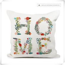 Promotional Home Textile Square Pattern Home Decor Fancy Pillow Case