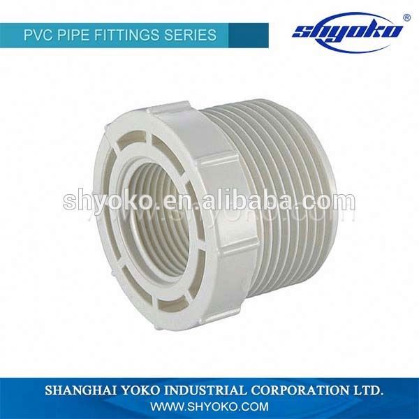 Manufacturer Good quality PVC BSPT THREAD PIPE FITTINGS PVC FEMALE AND MALE ADAPTER PLASTIC PIPE FITTINGS