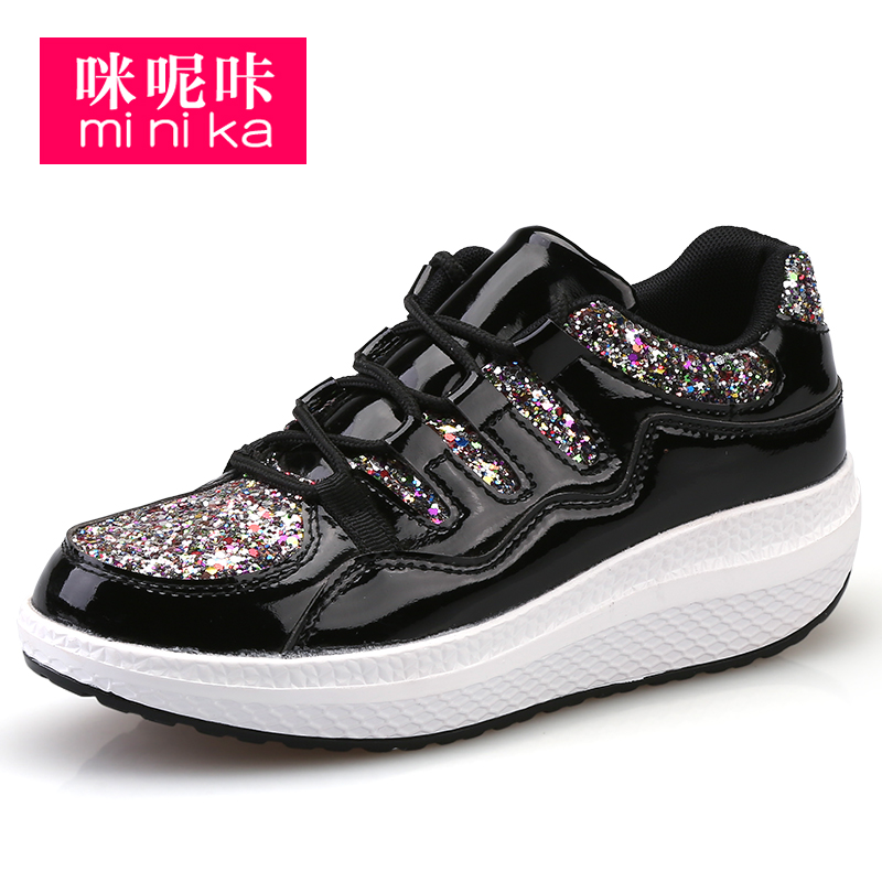 breathable women's casual shoes high platform leisure shoes