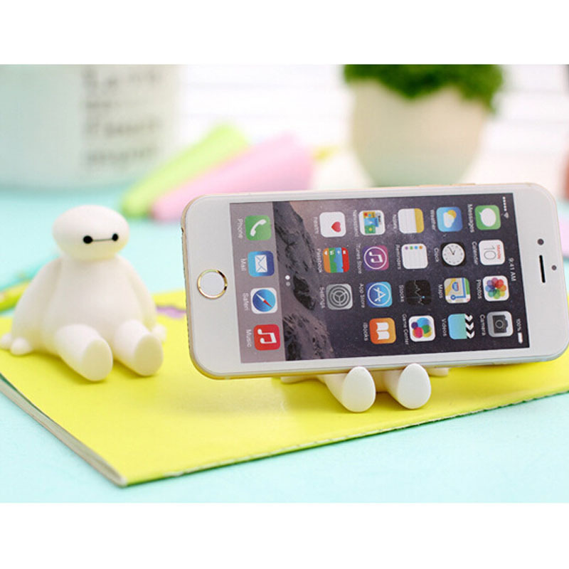 Cartoon Characters Silicone Phone Stand Novelty Phone Accessories Smartphones Mount wooden plastic wall mounted file Holder