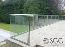 10mm 12mm 15mm clear toughened glass fence , railing , handrail , balustrade