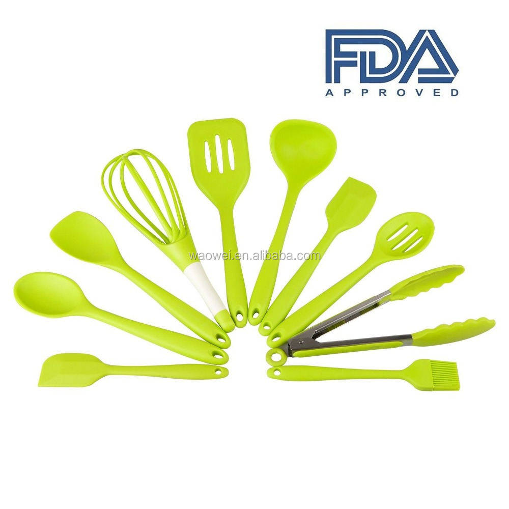 Premium Silicone Kitchen Utensils 10-Piece Non-Stick Cooking Set
