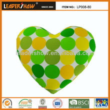 Inflatable printd heart design pillow with excellent handcraft