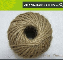 4mm 4 strands braided jute cord natural yellow jute twine spool hemp twisted with good price