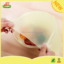 Factory price reusable food grade wrap film silicone cling wrap