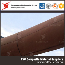 Polyester Fabric Antistatic Flame Resistant PVC Flexible Ventilation Duct for Tunnel